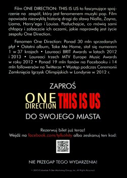 Tył ulotki filmu 'One Direction'