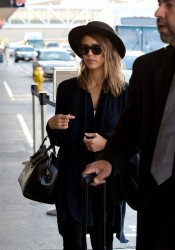 Jessica Alba - At LAX Airport 10/6/13