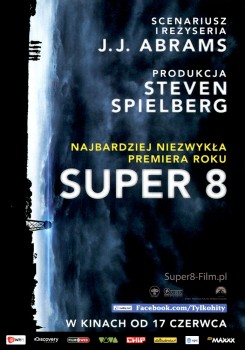 Przód ulotki filmu 'Super 8'