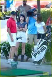 Kendall & Kylie Jenner - Golfing in Westlake Village 10/8/13