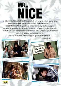 Tył ulotki filmu 'Mr. Nice'