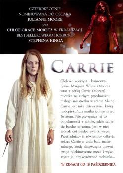 Tył ulotki filmu 'Carrie'