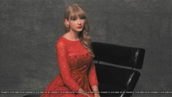 Taylor Swift - leggy in a red dress-  2012 iHeart Radio portraits (tagged)