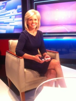 Gretchen Carlson - Twitter pic on set of her new show
