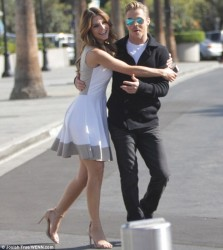 Maria Menounos - on the set of Extra in LA 10/17/13