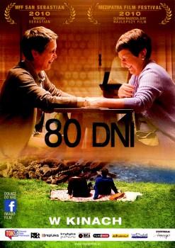 Przód ulotki filmu '80 Dni'