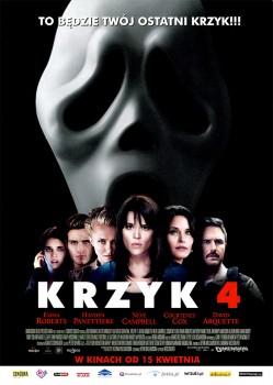 Przód ulotki filmu 'Krzyk 4'