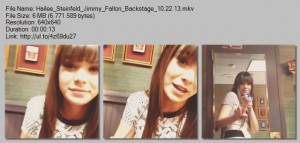 Hailee Steinfeld | Late Night with Jimmy Fallon - Backstage | Oct 22, 2013