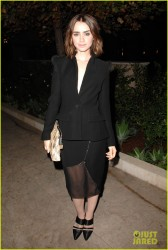 Lily Collins - 2013 CFDA & Vogue Fashion Fund Event in West Hollywood 10/23/13