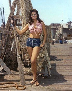 Raquel Welch: Halter Top & Jean Shorts: HQ x 1