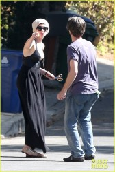 Anne Hathaway - outside her home in LA 10/27/13