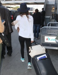 Eva Longoria - at LAX Airport 10/28/13