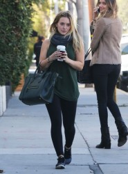 Hilary Duff - out in West Hollywood 10/30/13