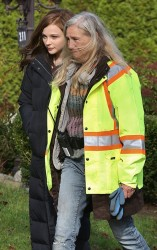 Chloë Moretz - on the set of 'If I Stay' in Vancouver 10/30/13