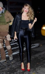 Lindsay Ellingson - Heidi Klum's Halloween Party in NYC 10/31/13