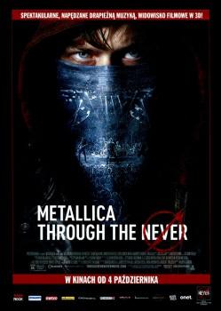 Przód ulotki filmu 'Metallica: Through The Never'