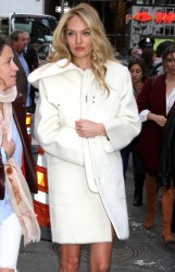Candice Swanepoel - Arriving to Good Morning America in NYC 11/6/13