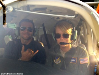 Emma Stone First pic from new Cameron Crowe movie