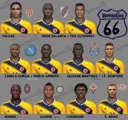 download Colombian Facepack No. 1 For PES 2014