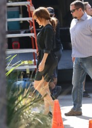 "Jennifer Lopez - Filming ""The Boy Next Door"" in Hollywood 11/11/13"