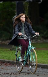 Chloë Moretz - on the set of 'If I Stay' in Vancouver 11/13/13