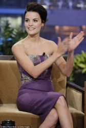 Jaimie Alexander - visits The Tonight Show with Jay Leno in Burbank 11/14/13