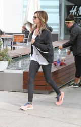 Ashley Tisdale - heads to the gym in LA 11/15/13