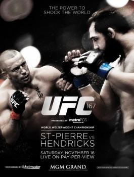 UFC 167: St. Pierre vs. Hendricks (2013) .x264 .ts hdtv 720p eng