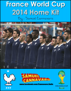 download France World Cup 2014 Home Kit PES 2014