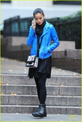 Jamie Chung - out in NYC - Nov 2013