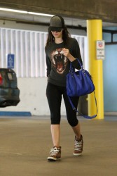 Emmy Rossum - leaving a gym in LA 11/24/13
