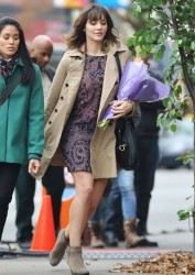 f66c94291813876 [Low Quality] Katharine McPhee   on the set of In My Dreams in Vancouver 11/28/13 high resolution candids