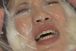 Here is the next one: this is new! She is literally drowning in cum!
