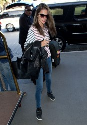 Alessandra Ambrosio - At LAX Airport 12/1/13
