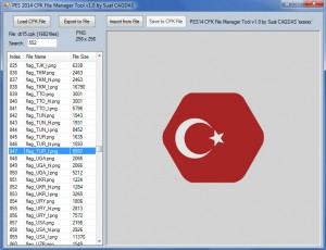 download CPK File Manager Tool v1.3 by sxsxsx