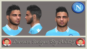 pes 2014 Lorenzo Insigne Face By Adit25
