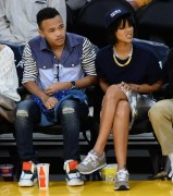 Rihanna - At the LA Lakers Game 12/1/13