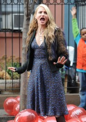 Cameron Diaz - on the set of 'Annie' in NYC 12/5/13