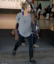 Hayden Panettiere at Heathrow Airport in London - December 6, 2013