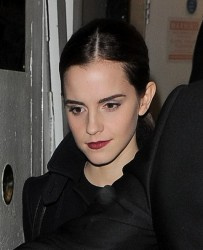 Emma Watson at Lady Gaga's Concert in London on December 6, 2013