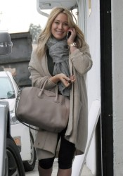 Hilary Duff - going to the gym in West Hollywood 12/7/13