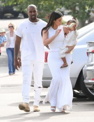Kim Kardashian - Going to church in Calabasas 4/5/15