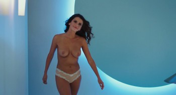 Milf holding boobs bra