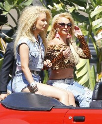 Britney Spears & Iggy Azalea - Filming a music video in Studio City 4/9/15