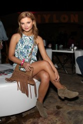 Stefanie Scott - Attends the NYLON Midnight Garden Party 4/10/15