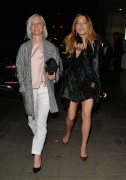 Lindsay Lohan at the Novikov bar/restaurant in Mayfair, London April 14-2015 x16