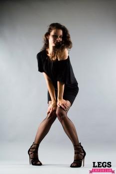 Elena Samoderzhenkova at a Fishnet Stockings shoot