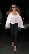 Lindsay Lohan leaving Scott's restaurant in Mayfair April 16-2015 x10
