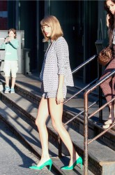 Taylor Swift - leggy out in NYC 04/18/2015