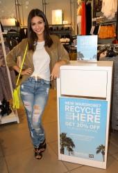 Victoria Justice - DoSomething.org H&M's Comeback Clothes campaign 4/14/15